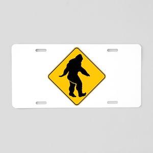 Bigfoot crossing Aluminum License Plate