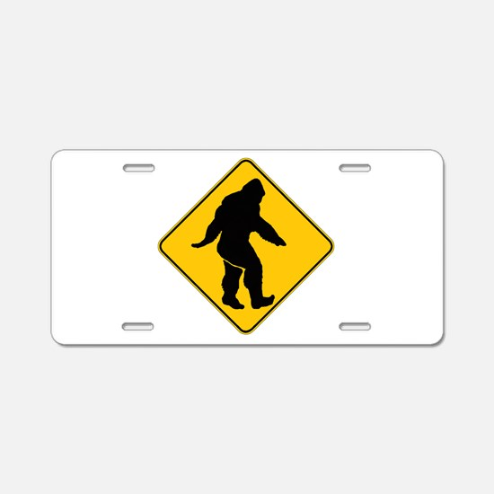 Bigfoot crossing Aluminum License Plate