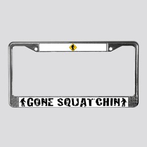 Bigfoot crossing License Plate Frame