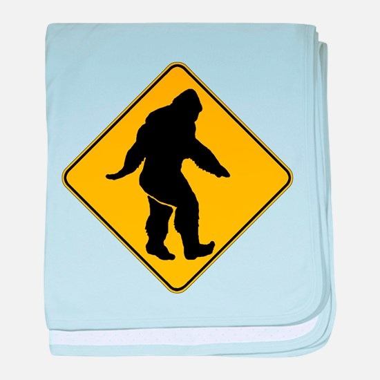 Bigfoot crossing baby blanket