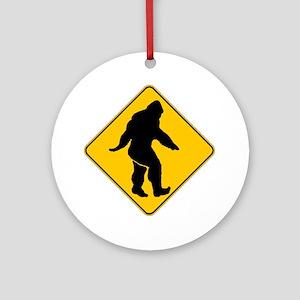 Bigfoot crossing Ornament (Round)