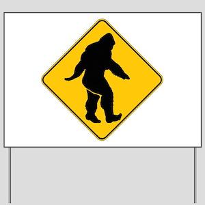 Bigfoot crossing Yard Sign