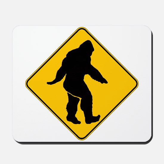 Bigfoot crossing Mousepad