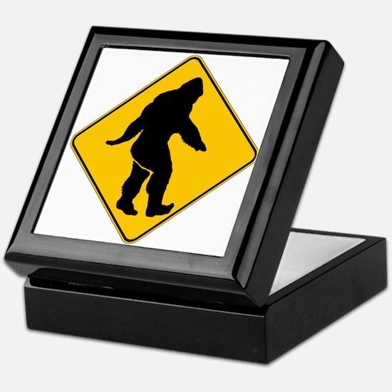 Bigfoot crossing Keepsake Box