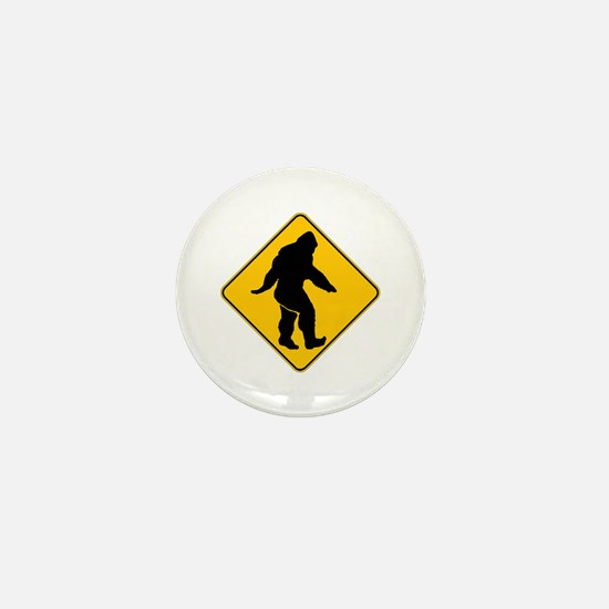 Bigfoot crossing Mini Button