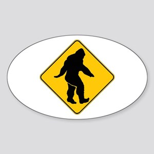 Bigfoot crossing Sticker (Oval 10 pk)