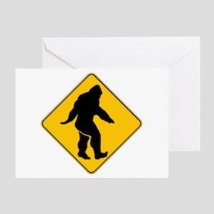 Bigfoot crossing Greeting Card