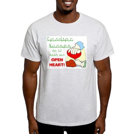 Open Heart Ash Grey T-Shirt