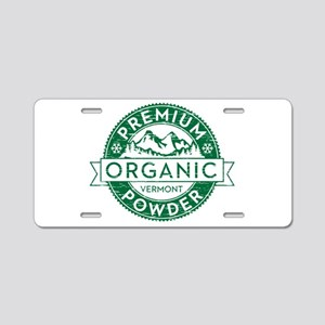 Vermont Powder Aluminum License Plate