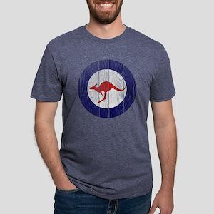 Australia Roundel Wood Mens Tri-blend T-Shirt