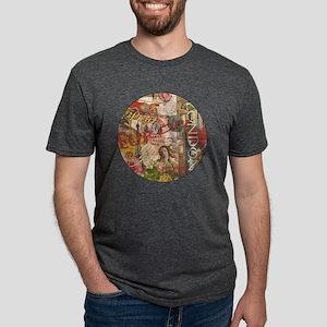 European Travel Vintage Lon Mens Tri-blend T-Shirt