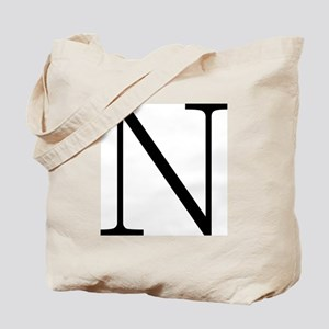 Greek Alphabet Character Nu Tote Bag