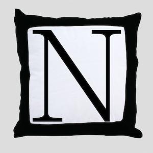 Greek Alphabet Character Nu Throw Pillow
