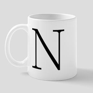 Greek Alphabet Character Nu Mug