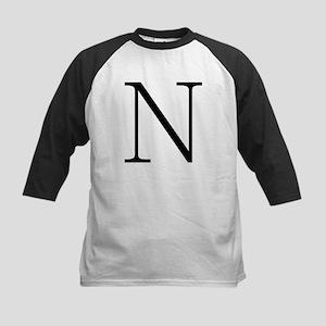 Greek Alphabet Character Nu Kids Baseball Jersey