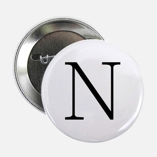 Greek Alphabet Character Nu Button