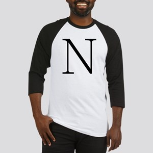 Greek Alphabet Character Nu Baseball Jersey