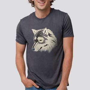 Wolf Face transparent Mens Tri-blend T-Shirt