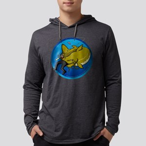 Catfish Attack Mens Hooded Shirt