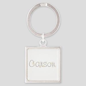 Carson Spark Square Keychain