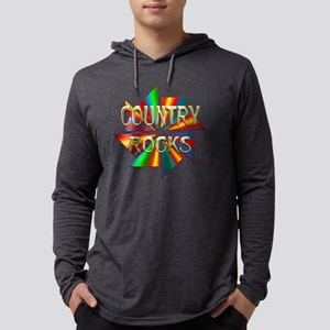Country Rocks Mens Hooded Shirt