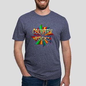 Country Rocks Mens Tri-blend T-Shirt