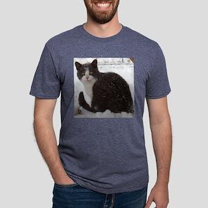 Snow Kitten Pillow Mens Tri-blend T-Shirt