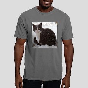 Snow Kitten Pillow Mens Comfort Colors Shirt