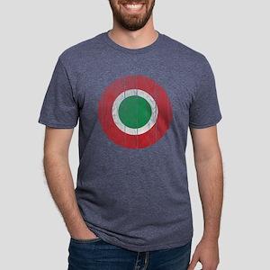 Italy Roundel Wood Mens Tri-blend T-Shirt