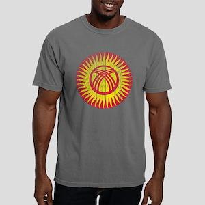 Kyrgyzstan Roundel Wood. Mens Comfort Colors Shirt