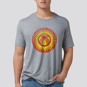 Kyrgyzstan Roundel Wood Mens Tri-blend T-Shirt