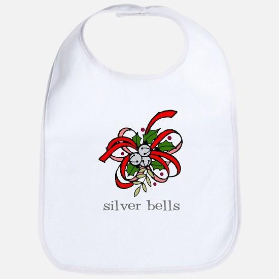 Silver Bells Christmas Bib