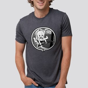 womb-rocker-bw-T Mens Tri-blend T-Shirt