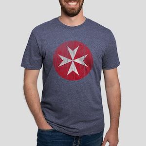 Malta 2 Roundel Wood Mens Tri-blend T-Shirt