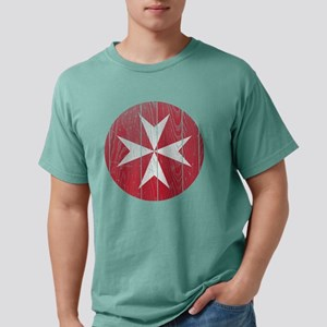 Malta 2 Roundel Wood Mens Comfort Colors Shirt