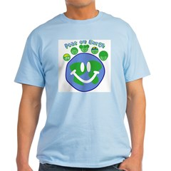 Peas On Earth Blue T-Shirt