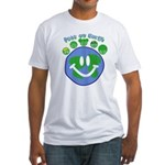 Peas On Earth Fitted T-Shirt