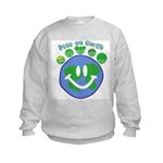Peas On Earth Kids Sweatshirt