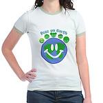 Peas On Earth Jr. Ringer T-Shirt