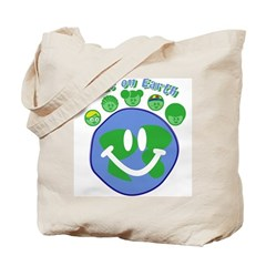 Peas On Earth Tote Bag