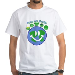 Peas On Earth White T-Shirt