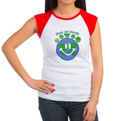 Peas On Earth Women's Cap Sleeve T-Shirt