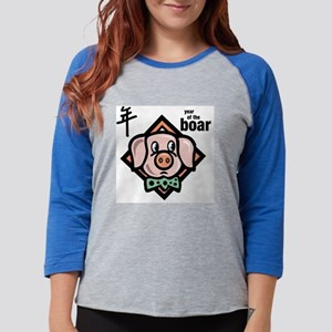 asian boar.png Womens Baseball Tee
