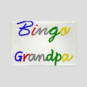 Bingo Grandpa Rectangle Magnet