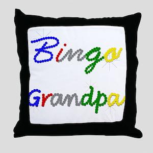 Bingo Grandpa Throw Pillow