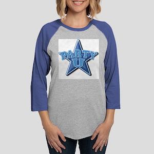 partyu-logoshirt3 Womens Baseball Tee