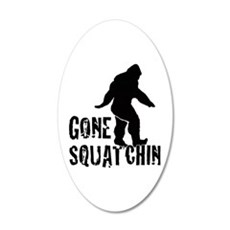 Gone Squatchin print Wall Decal