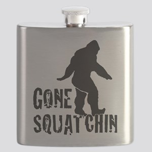 Gone Squatchin print Flask