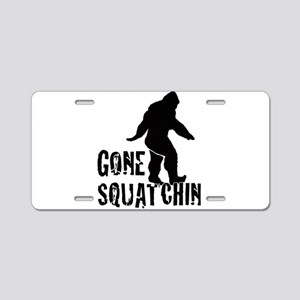 Gone Squatchin print Aluminum License Plate