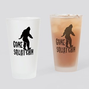 Gone Squatchin print Drinking Glass